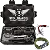 Stealth Angel Compact 2.0 10-in-1 Survival Kit with Paracord Bracelet, Multi-Purpose EDC Outdoor Emergency Tools and Everyday Carry Gear, Official Stealth Angel Survival Kit