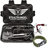 Stealth Angel Compact 2.0 10-in-1 Survival Kit with Paracord Bracelet, Multi-Purpose EDC Outdoor Emergency Tools and Evereyday Carry Gear, Official Stealth Angel Survival Kit (4 Pack)