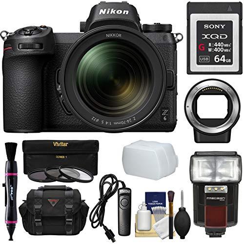 Nikon Z6 Mirrorless Digital Camera & 24-70mm f/4 S Lens with