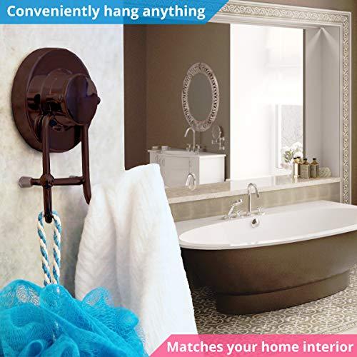 HOME SO Towel Hook Suction Bathroom, Storage Robe, - Steel,