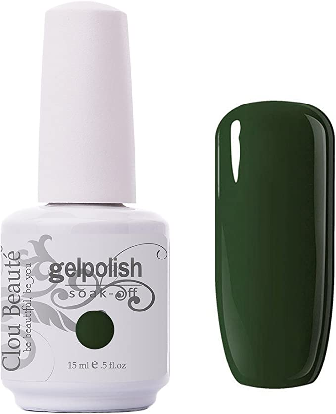 Clou Beaute Gelpolish 15ml Soak Off Uv Led Gel Polish Lacquer Nail Art Manicure Varnish Color Army Green 1436 Beauty Amazon Com