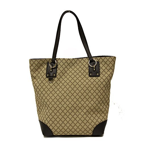 Gucci Diamante Canvas and Leather Medium Business Portfolio Tote Bag (Bag Purse Tote Handbag Gucci)