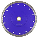 7 Inch Diamond Blade,Stylish Y&I Porcelain Blade Super Thin Tile Cutter for Grinder Dry or Wet Ceramic Diamond Saw Blades With Adapter 7/8'',20mm,5/8 Inch Abor (7 inch)