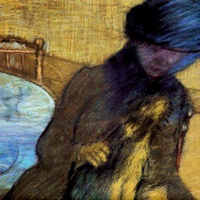 (Mary Cassatt With Her Dog By Edgar Degas Tile Trivet)