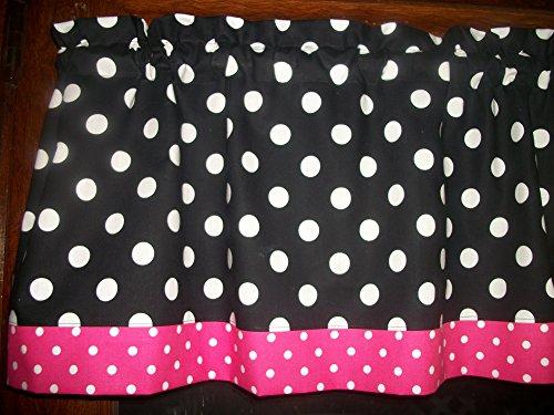 Black Pink Polka Dot hello kitty minnie mouse retro fabric kitchen curtain Valance