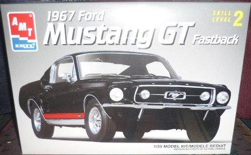 AMT 1/25 1967 Ford Mustang GT Fastback Model (Mustang Fastback Roof)