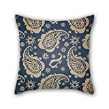 PILLO pillowcase of Paisley,for deck chair,family,wedding,bf,kids boys,father 18 x 18 inches / 45 by 45 cm(double sides)