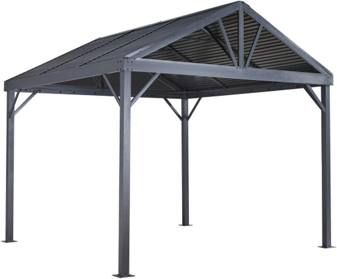 Sojag 10 x 10 Sanibel I Hardtop Gazebo Outdoor Sun Shelter, Light Grey