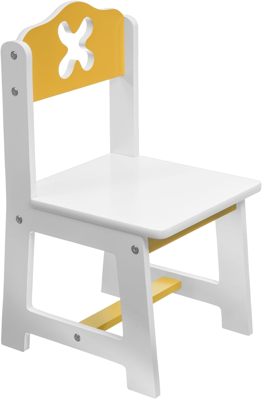 ca Bieco 79199201 26 x 26 cm Kinder Stuhl wei/ß//gelb Sitzfl/äche