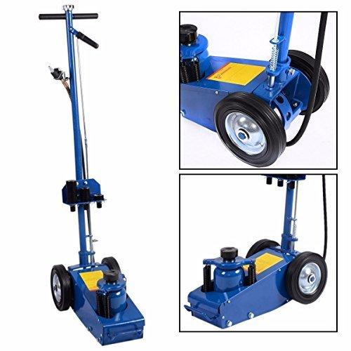 Goplus 22 Ton Air Hydraulic Floor Jack Truck Lift Jacks Service Repair Lifting Tool with Wheels by Goplus (Image #2)