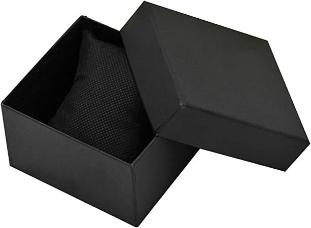 VORCOOL caja de reloj regalo caja cuadrada para joyas pulsera reloj (negro): Amazon.es: Hogar