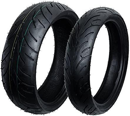 Max Motosports juego de neumáticos delanteros y traseros ...