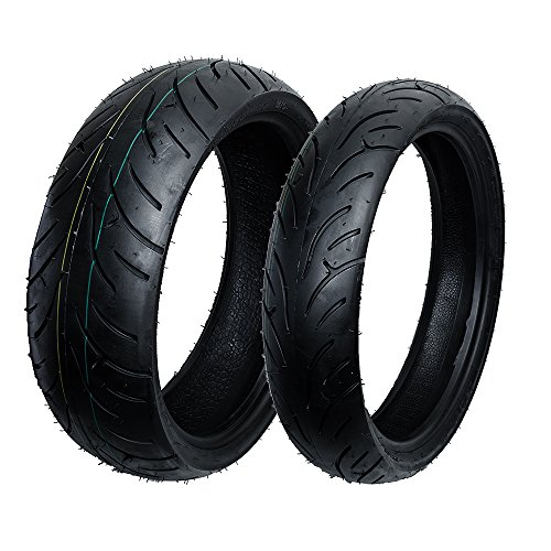 Max Motosports Front and Rear Moto Tire Set 120/70-17 & 180/55-17