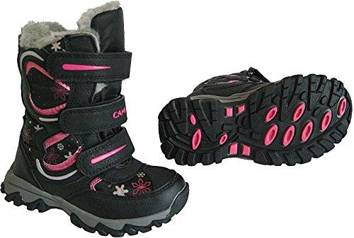 Mädchen Boots Kinder Winter Stiefel warm gefüttert gr.25-30 art.nr.5007 Schwarz