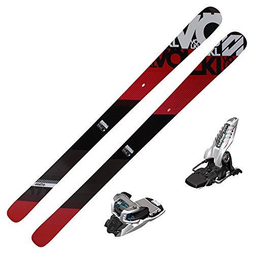 2016 Volkl Mantra Skis (European Edition) w/ Marker Griffon Bindings (White/Teal) (170)