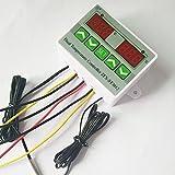 220V Microcomputer Digital Dual Thermometer Temperature Controller Thermostat Incubator Control 2pcs Probe