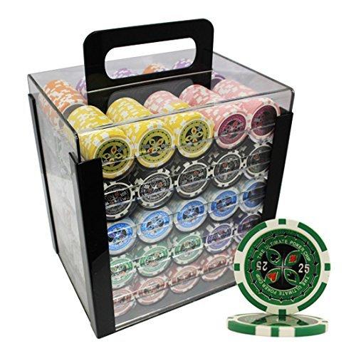MRC 1000pcs Ultimate B0150QGHWI Laser Poker Chipsセットwithアクリルケースカスタム構築 1000pcs Poker B0150QGHWI, 壬生町:37f7f43f --- itxassou.fr