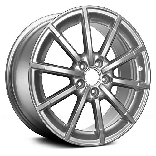 - Replacement 10 Spokes All Painted Bright Hyper Silver Factory Alloy Wheel Fits Audi A4