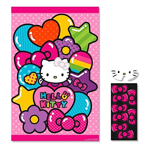 Amscan AMI 271417 Hello Kitty Rainbow Birthday Party Game Multi Color, 11