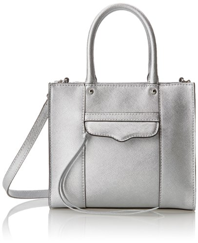 Mini Rebecca Minkoff Mab (Rebecca Minkoff MAB Mini Cross Body Bag,Silver,One Size)