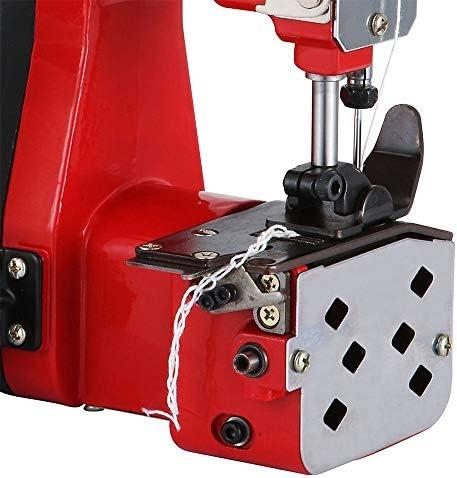TOPQSC Máquina de Coser Portátil para Cerrar Bolsas Máquina Cerrada de Cierre de Bolsa Industrial de Bolsa de Tejido de Punto Para Bolsa de Piel de Serpiente (Rojo): Amazon.es: Hogar