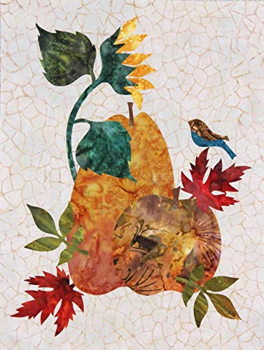 Seasonal Silhouettes Block 10 Laser Cut Fusible Applique Kit With Background, Sewing Kit