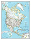 North America Classic Wall Map Map Type: Enlarged Size (46''H x 36''W)