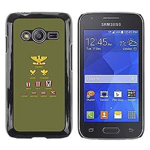 Caucho caso de Shell duro de la cubierta de accesorios de protección BY RAYDREAMMM - Samsung Galaxy Ace 4 G313 SM-G313F - Ranking Title List Simple Colonel