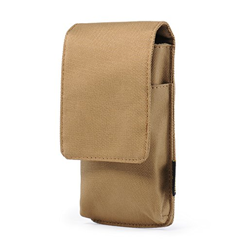 Belt Phone Pouch Case Hengwin iPhone 8 Holster Case Belt Clip Leather iPhone Holster Pouch Belt Loop Waist Bag Men Purse with Magnetic Closure iPhone 7 6 Carrying Case - 2 Pack (Tan Belt Holster)