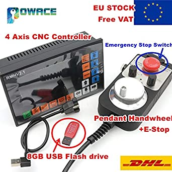 Laliva Tool – [EU Stock] 4 ejes 500 KHz PLC controlador Offline ...