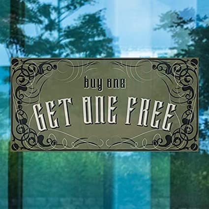 Victorian Gothic Window Cling Buy One Get One Free 24x12 CGSignLab 5-Pack