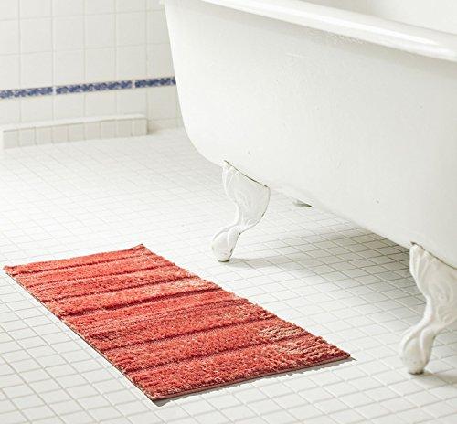 (RT Designers Collection Bello 2 Piece Microfiber Bath Mat Set, Coral)