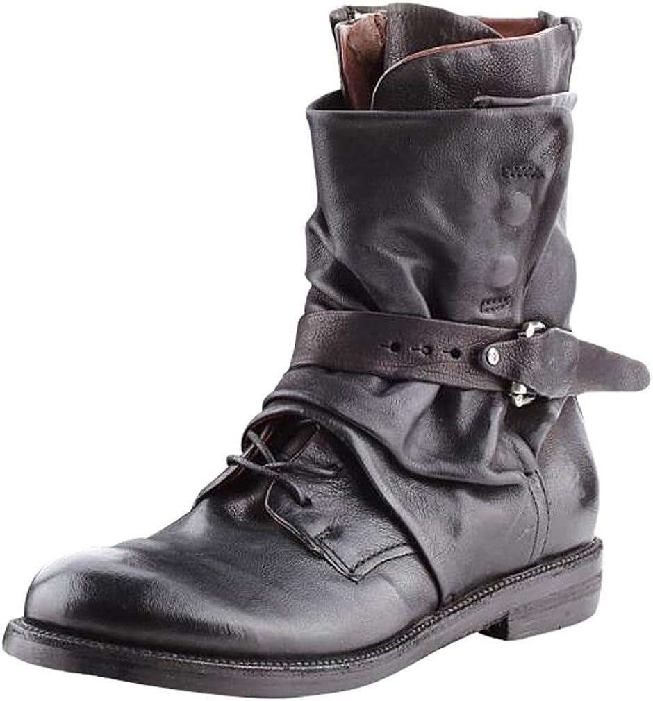 Hombre Moda Botas De Moto Estilo Británico Zapatos con Hebilla Estilo Americano Zapatos De Vaquero Hebilla De Cuero Botas Calientes