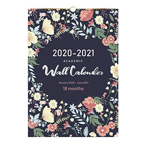 2020 Calendar-18 Monthly Wall Calendar with Thick Paper,Large Wall Calendar 12x17 Inches,Vibrant and Colorful January 2020- March 2021