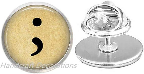 Semi Colon Jewelry Semicolon Suicide Awareness Awareness Jewelry.F289 Semi Colon Key Necklace Depression