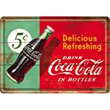 Coca Cola Delicious Refreshing metal postcard / mini-sign (na)