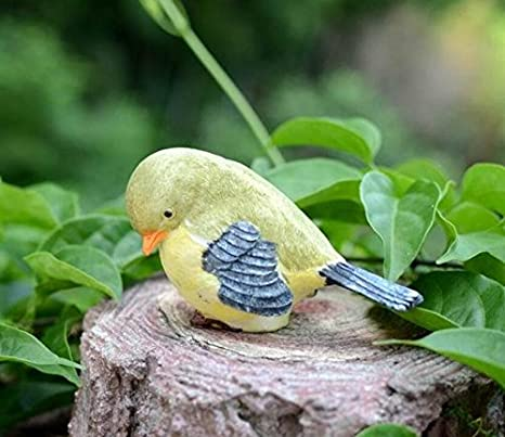 xinjiener Vivos Aves Adorno para casa Micro Paisaje jardín ...