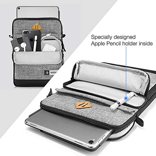 Tomtoc 10.5 Inch Tablet Shoulder Bag Sleeve Case Compatible with 10.5'' iPad Pro | 9.7'' New iPad 2018 | Surface Go | Acer Tab 10 | Samsung Galaxy Tab A 10.1, Apple Pencil & Smart Keyboard Compatible by Tomtoc (Image #2)