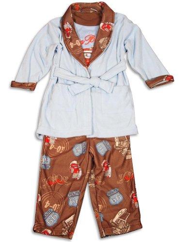 Baby Buns - Baby Boys 3 Piece Robe and Pajama Set