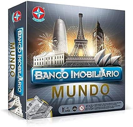 Jogo Tabuleiro - Banco Imobiliário - Mundo - Estrela