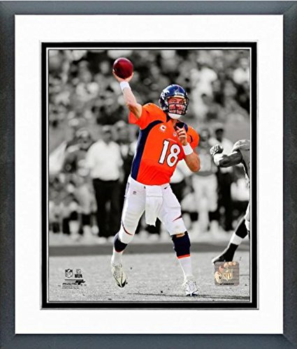 Peyton Manning 8x10 Matted Photo - Peyton Manning Denver Broncos Spotlight Action Photo (Size: 12.5