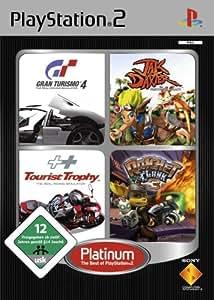 PS2 Quattro Platinum Pack (Gran Turismo 4 + Jak and Daxter + Tourist Trophy + Ratchet & Clank 3) [Importación alemana]