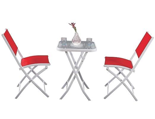PHI VILLA 3 pc textileno, Plegable Patio Juego de Mesa y sillas, 2 ...