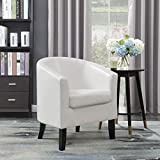 Best Club Chairs - Belleze Club Chair Tub Faux Leather Armchair Seat Review