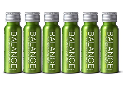 Superfood Shot, Organic Blend of Fruits, Vegetables and Greens, Smoothie, Green Drink to Take on The Go, Juice Cleanse, 2oz. Serving, Vegan, Gluten-Free (6 Pack)