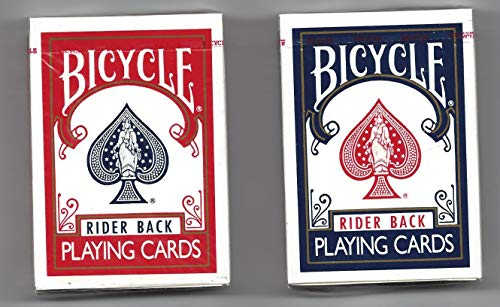 - Bicycle Rider Back Playing Cards Poker 808 Set of 2 Red & Blue