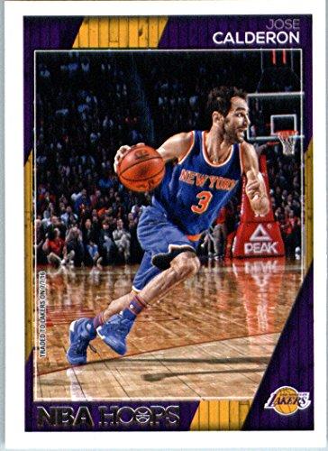 2016-17 Panini NBA Hoops #201 Jose Calderon Los Angeles Lakers Basketball Card-MINT
