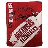 NCAA Collegiate School Logo Fleece Blanket (Arkansas Razorbacks)