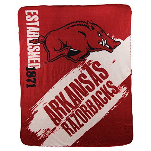 The Northwest Company NCAA Collegiate School Logo Fleece Blanket (Arkansas Razorbacks)