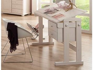 Kinderschreibtisch höhenverstellbar  Kinderschreibtisch Schreibtisch Bürotisch höhenverstellbar Kiefer ...